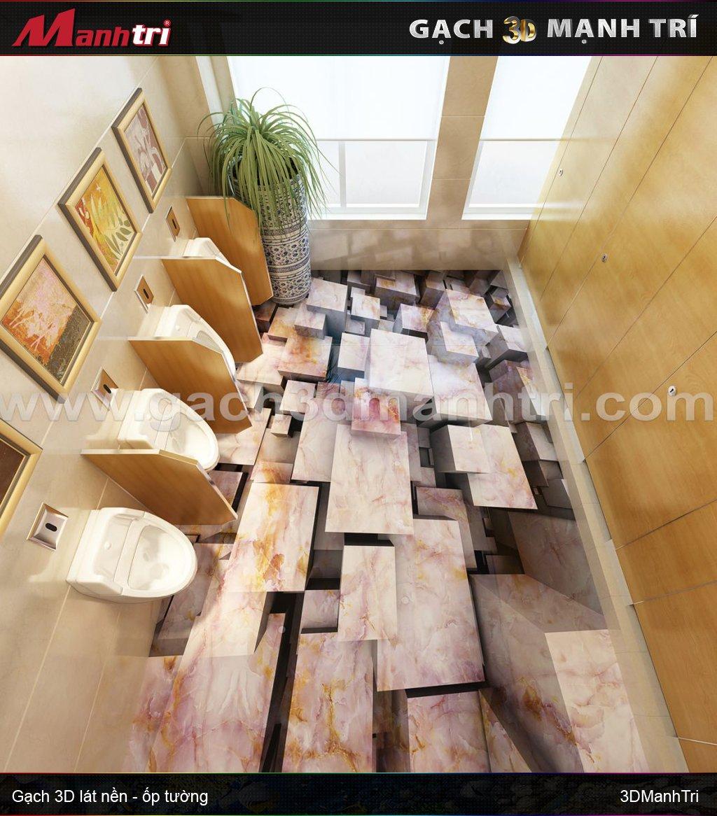 Mẫu thiết kế gạch 3D nhà vệ sinh 3