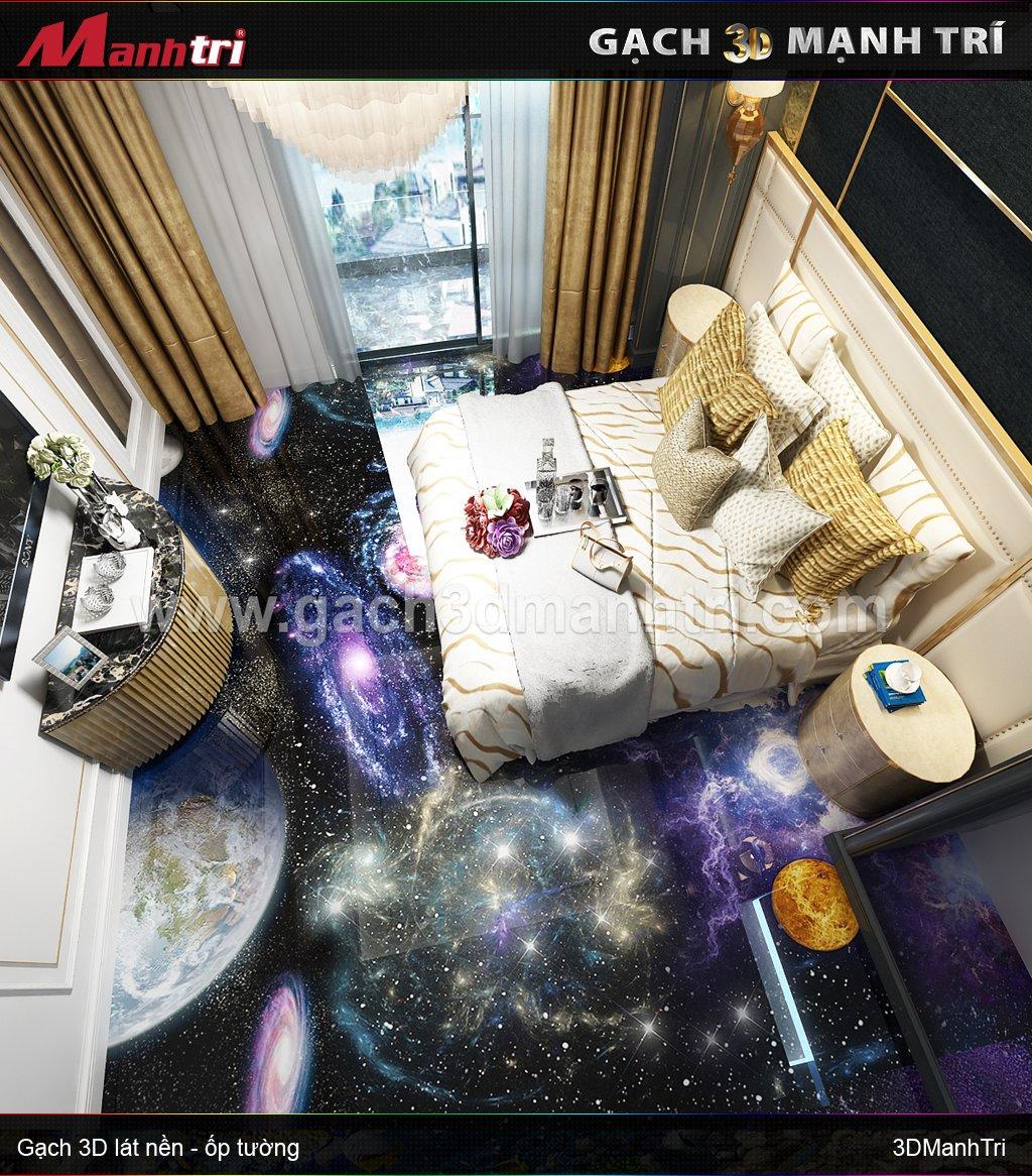 Mẫu thiết kế gạch 3D phòng ngủ 6