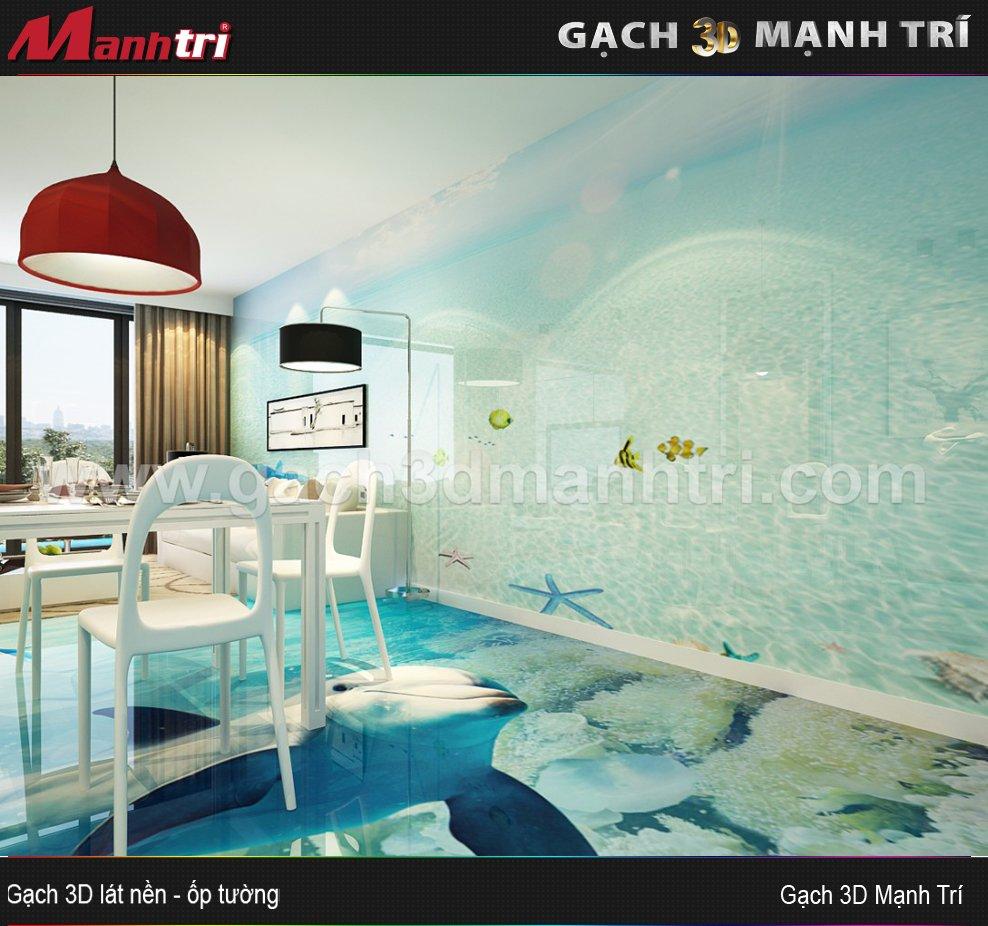 Mẫu thiết kế gạch 3D phòng ăn 5