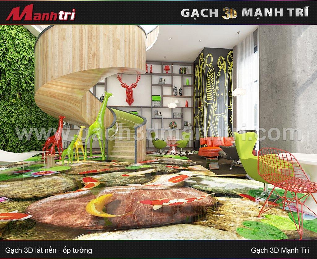 Mẫu Gạch 3D Phòng Làm Việc 2