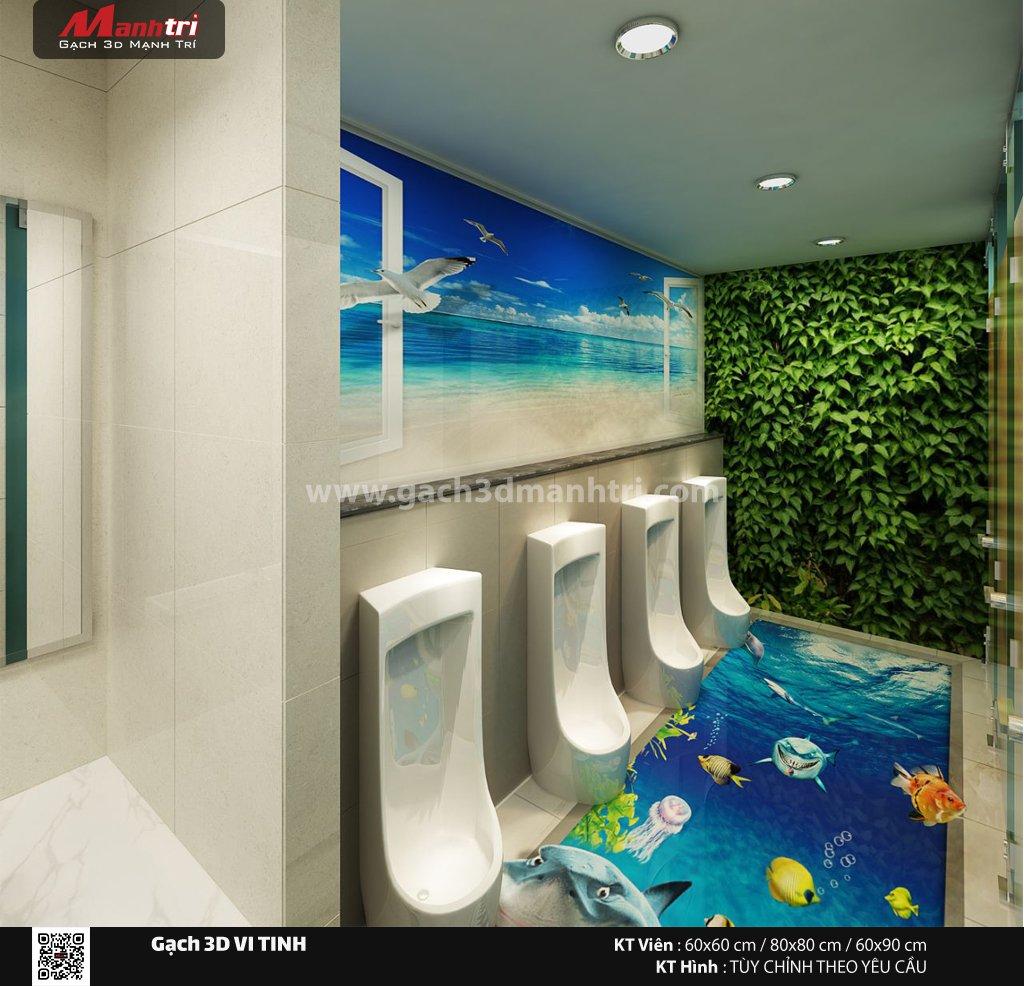 Mẫu thiết kế gạch 3D nhà vệ sinh 5