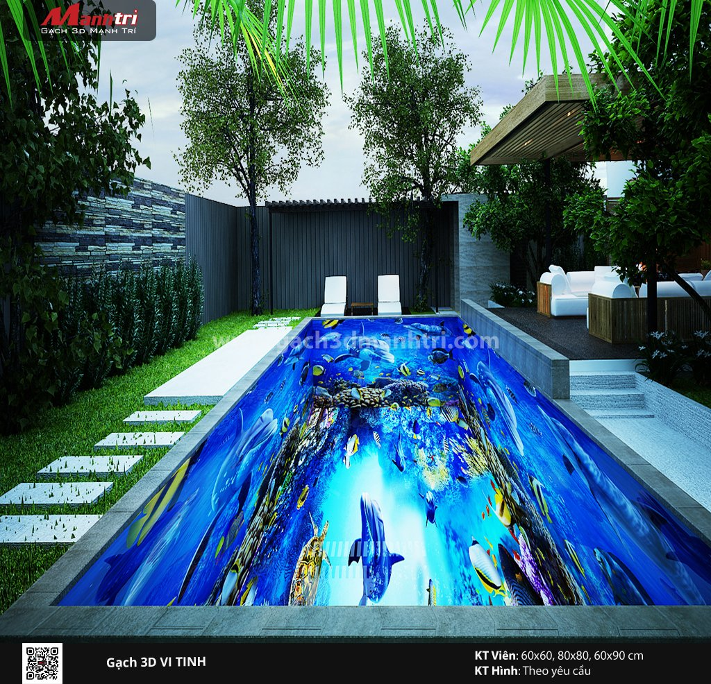 Mẫu thiết kế gạch 3D hồ bơi 5