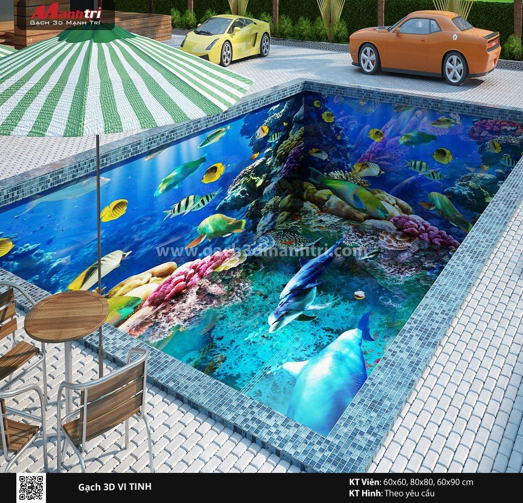 Mẫu thiết kế gạch 3D hồ bơi 6