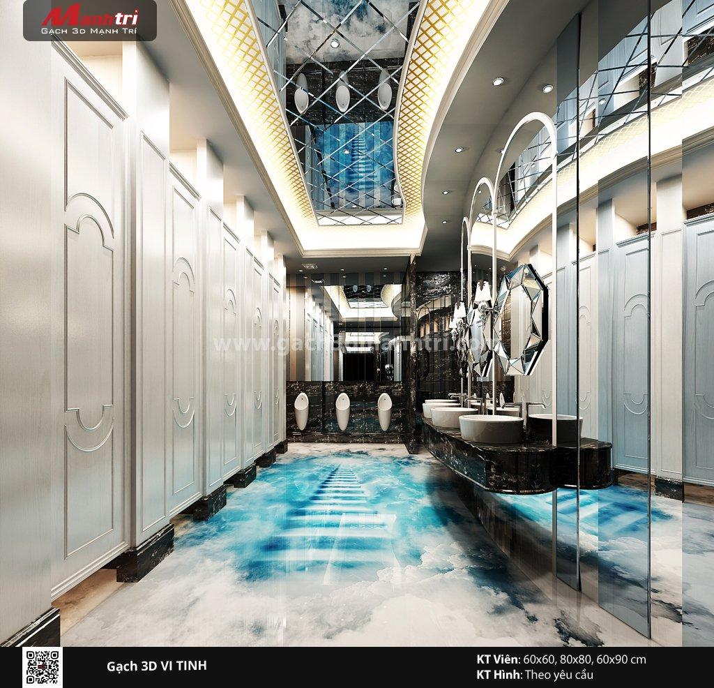 Mẫu thiết kế gạch 3D nhà vệ sinh 6