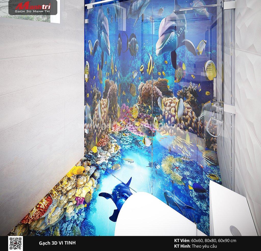 Mẫu thiết kế gạch 3D phòng tắm 5