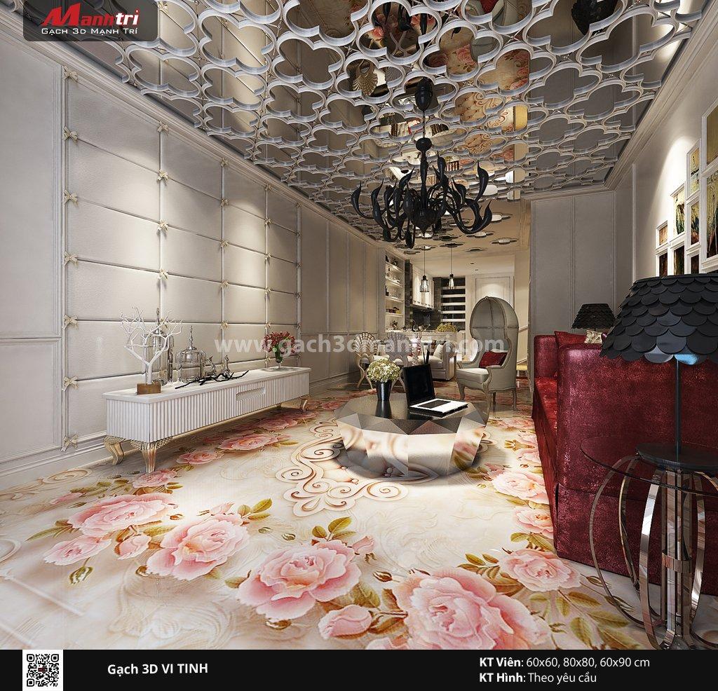 Mẫu thiết kế gạch 3D phòng khách 12