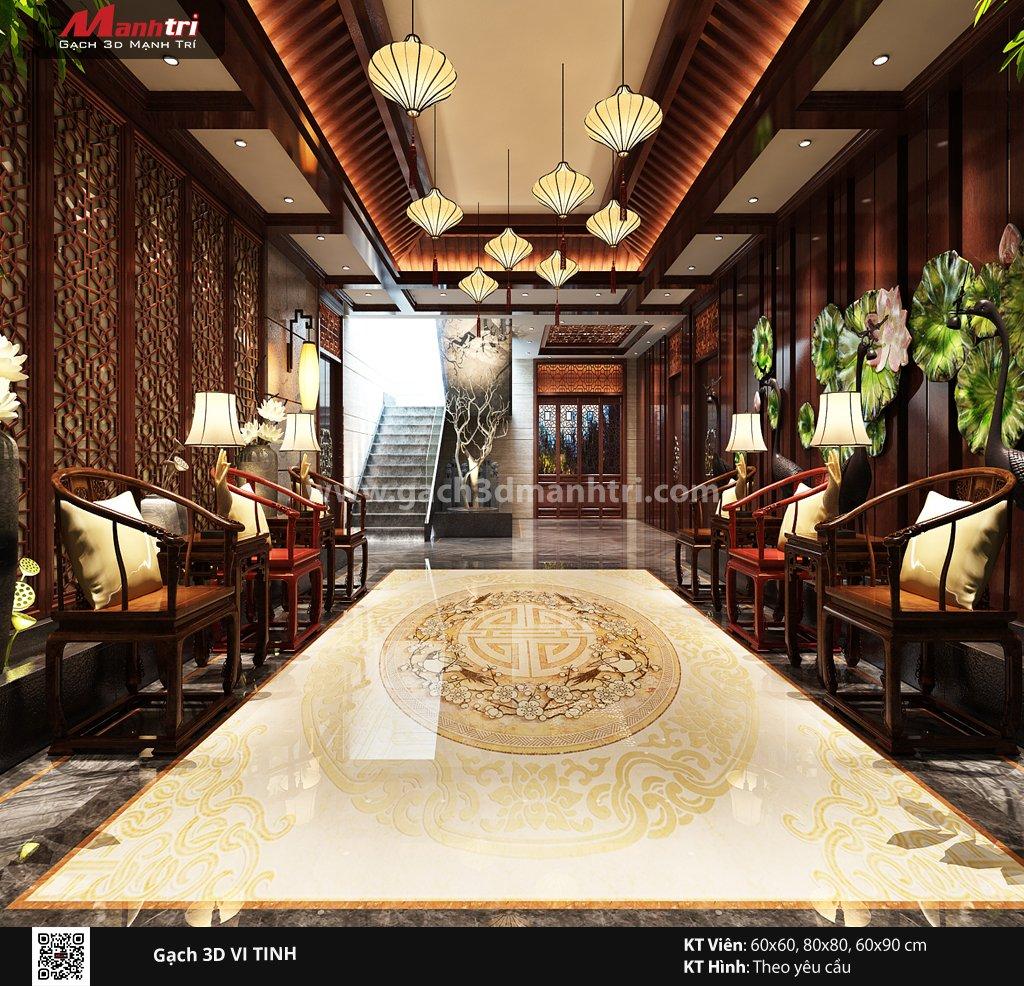 Mẫu thiết kế gạch 3D phòng khách 14