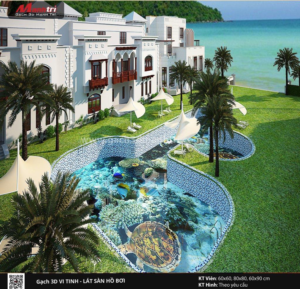 Mẫu thiết kế gạch 3D hồ bơi 10