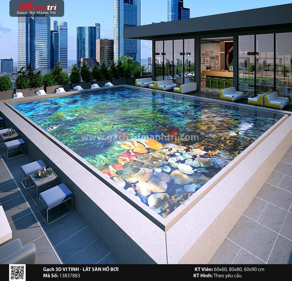 Mẫu thiết kế gạch 3D hồ bơi 11
