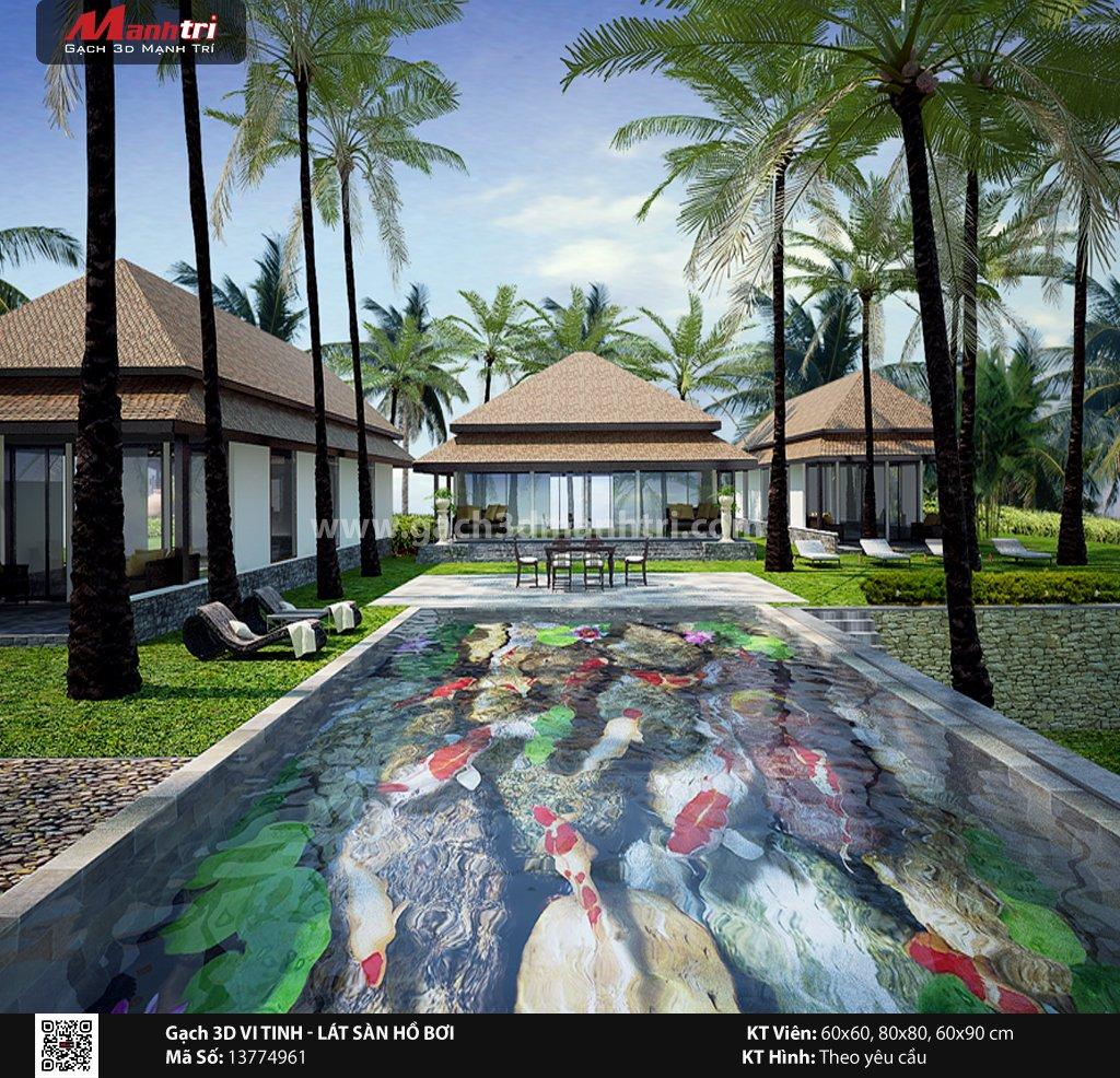 Mẫu thiết kế gạch 3D hồ bơi 13