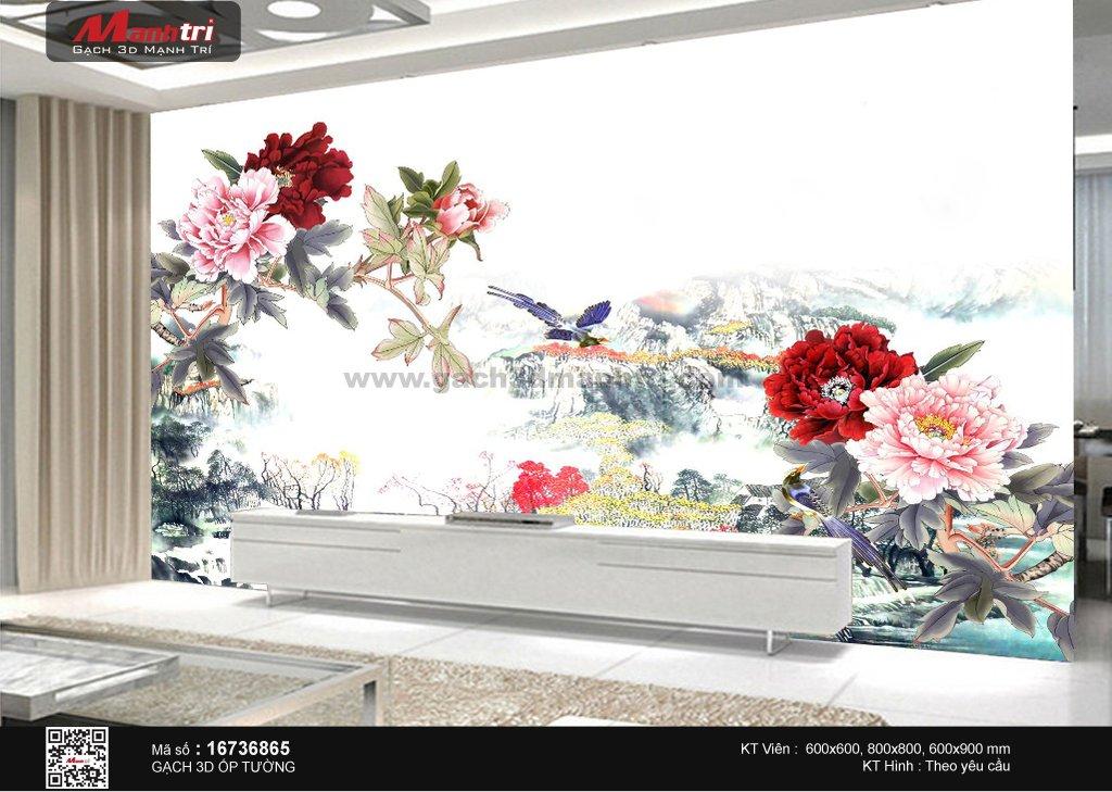 hoa mau don trong gach 3d