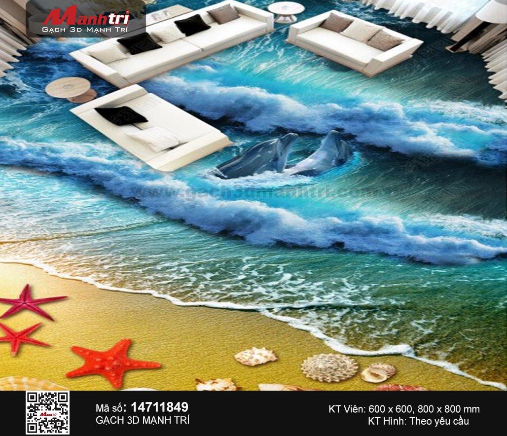 Gạch 3D Sàn Sóng và Cát