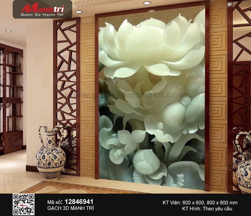 Gạch 3D Hoa Sen